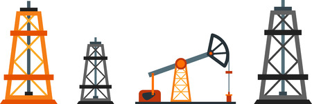 naphtha: Flat design element of oil industry