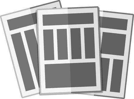 newsprint: Simple flat newspapers with columns.