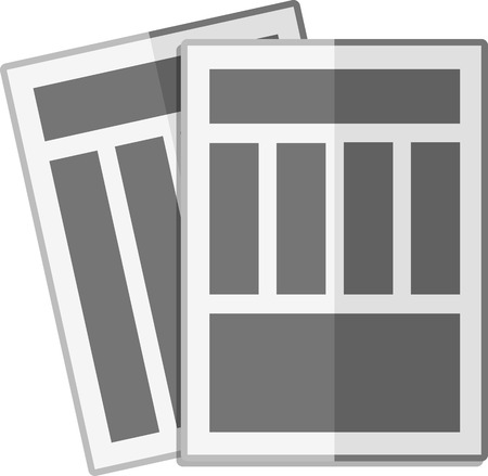 newsprint: Simple flat newspaper with columns. Eps 10 Illustration