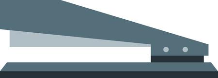 Flat image of manual stapler. Eps 10