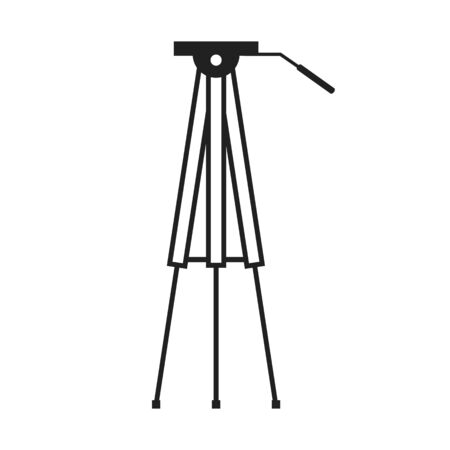 implement: Flat image of graphic tripod