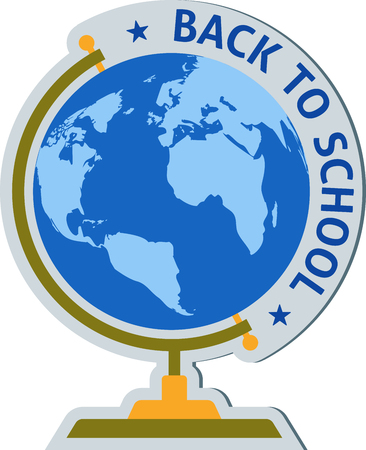 school globe with the inscription Back to school Illustration