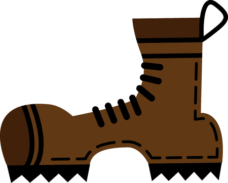 Flat hiking boots