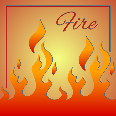 Abstract fire illustration