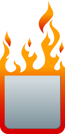 Flat price tag with fire. Fire sticker. Fire label. Eps 10