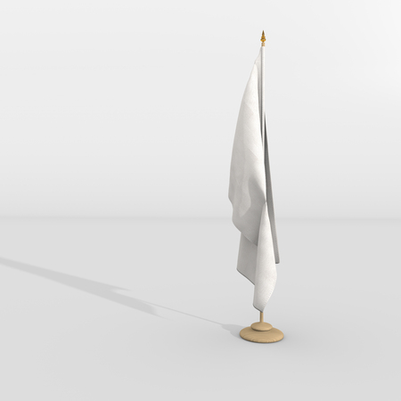 white flag on the mast, template flag photo