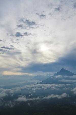 america centrale: Vulcano in Guatemala, america centrale