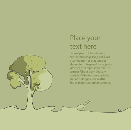 environmental awareness: Layout using an isolated tree theme Illustration