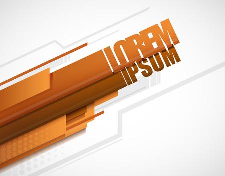Modern Layout Template Vector Design orange