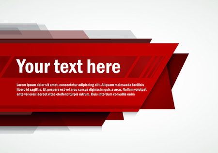 Modern Layout red template  Vector