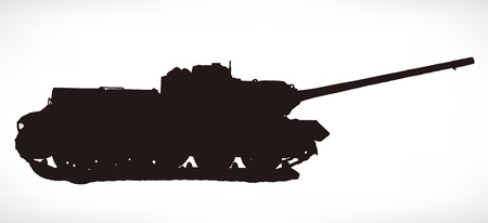 Russian tank vector silhouette Stock Vector - 24517064