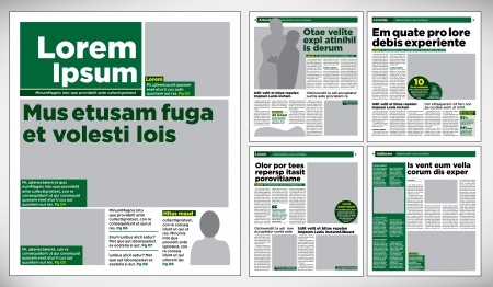 newspaper print: Graphical design newspaper template Illustration