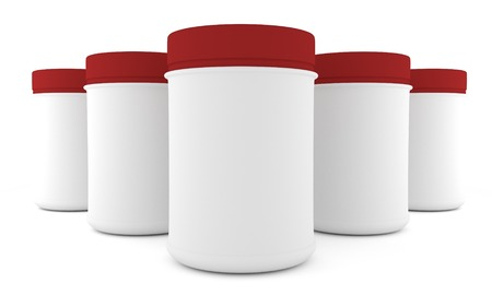 parenteral: five Realistic packaging rounded for sports nutrition and supplementary feeding