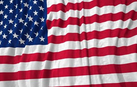 the united states flag: Corrugated united states of america flag close up 3D illustration Stock Photo