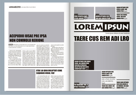 a3: Traditional Graphical design Template newspaper, gray colors and A3 format