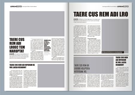 giornale Template design grafico tradizionale, colori grigi e il formato A3