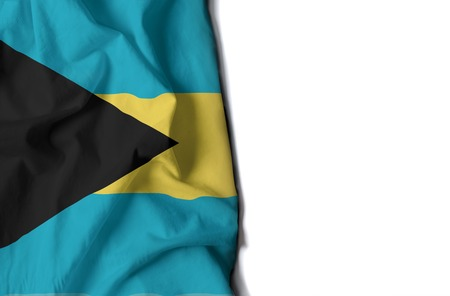 flag of bahamas, wrinkled flag with space for text