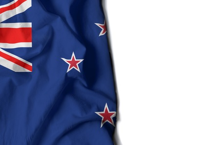 bandera de nueva zelanda: flag of new zealand, wrinkled flag with space for text