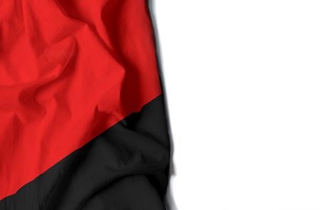 anarchist: black flag of anarchy, anarchist wrinkled flag with space for text Stock Photo