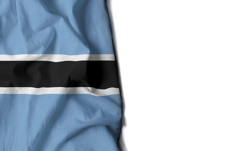 botswanan: flag of botswana, botswanan wrinkled flag with space for text Stock Photo