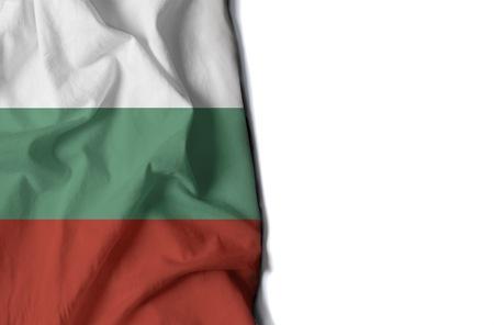 Flaga Bułgarii, pomarszczona flaga z miejsca na tekst Zdjęcie Seryjne