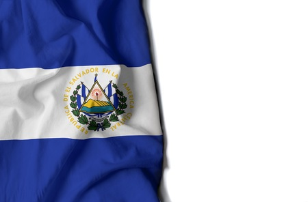flag of el salvador, salvadorean wrinkled flag with space for text