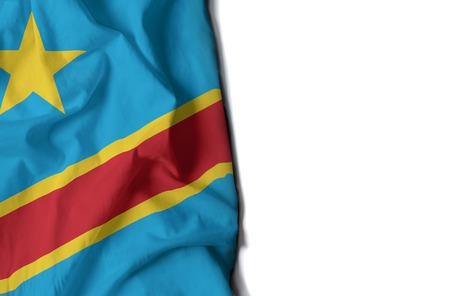 flag of congo, congolose wrinkled flag with space for text