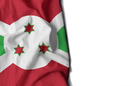 flag of burundi, wrinkled flag with space for text