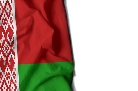 flag of belarus, wrinkled flag with space for text