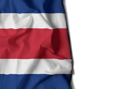 costa rican flag: flag of costa rica, Costa Rican wrinkled flag with space for text