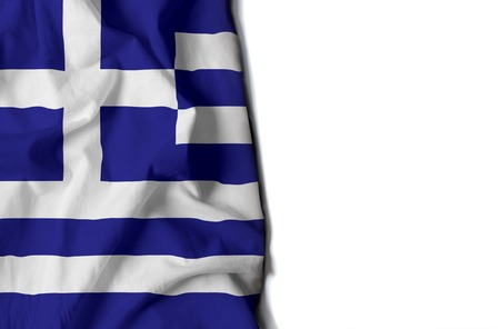 flag of grece, Greek wrinkled flag with space for text