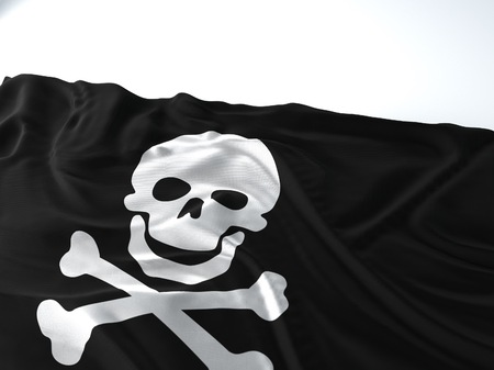 3d render iustration of a Waving xxx Flag on white background