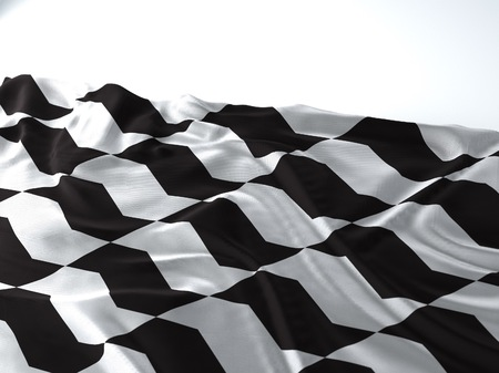 3d render iustration of a Waving sao paulo sidewalk Flag on white background Фото со стока