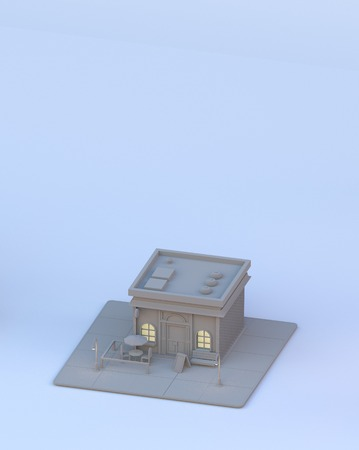 miniature of a urban building
