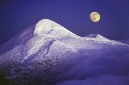 Goverla and MoonThe moon rises over the ridge of Montenegro photo