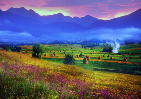 warmest: Carpathian Summer is the warmest and beautiful time of year, the abundance of flowers, clear lakes, lush alpine meadows of grass, fresh air attract people from cities