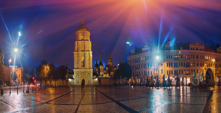 Kiev, Ukraine- September 4, 2013: Exhibition of fancy toys. Sofias Square - one of the oldest areas of the central and Kiev. At the Sofia area is the bell tower of St. Sophia Cathedral and the monument to Bogdan Khmelnitsky. The area is located between t