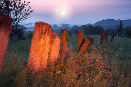 remained: At the Karaite cemetery in the village Zalukva near Galich (Ivano-Frankivsk region, Ukraine) remained around 200 gravestone monuments. The oldest of them dated from the mid-XVIII century