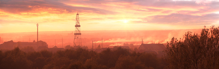The oil rig in Ivano-Frankivsk on the outskirts of the city explored the reserves of a valuable deposit of Ukrainian oil and gas for the countrys energy independence