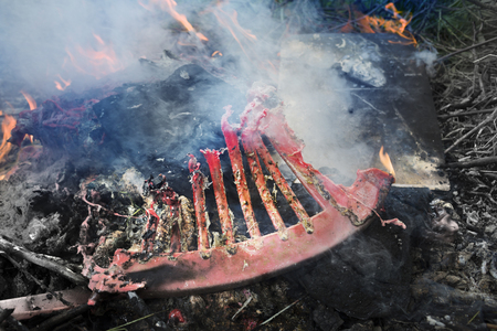 The burning of plastic debris gives off a huge amount of toxic carcinogens, and which does not decompose in nature. Low production culture does not process polymers for a second time