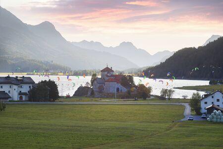 Lake Silvaplana (German: Silvaplanersee; Romansh: Lej da Silvaplauna) is a lake in the Upper-Engadine valley of Grisons, Switzerland.