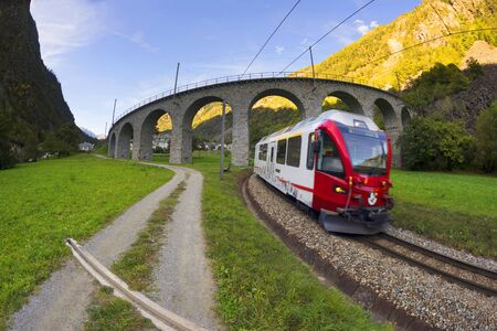 This is Brucio's viaduct, like a snake twisting into its own tail. Bernina is the highest railway corridor in Europe without gears, amid beautiful mountains and the city