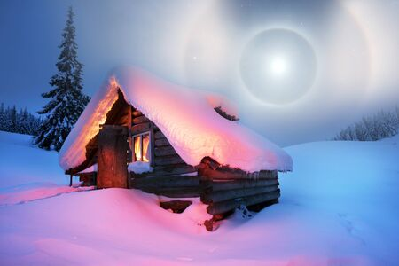 In the alpine zone of high mountains stands an ancient hunting wooden house, where sheep shepherds come in summer, and in winter hunters, tourists and mountain rescuers