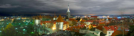 Tallinn, Estonia panoramic view from the observation deck over the fortress wall that protected the old city. Now the landscape attract tourists and travelers