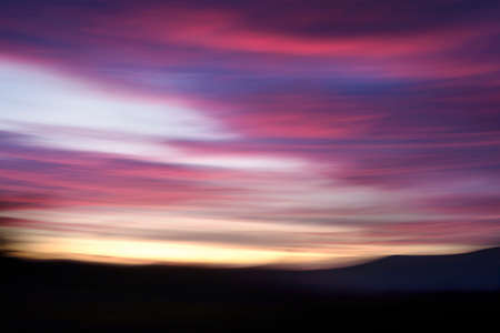 The intense colors of the sunset and sunrise are a fantastic palette of colors on planet Earth. Long exposure in strong winds will result in motion blur.