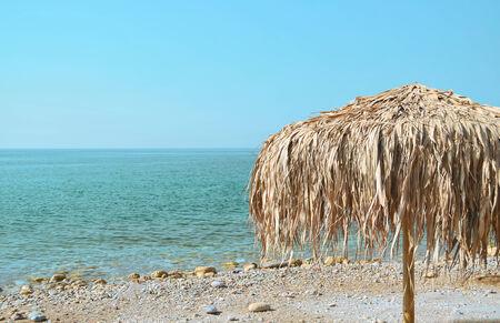 azure coast: Parasol on the azure coast