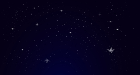 Night Sky with Star vector