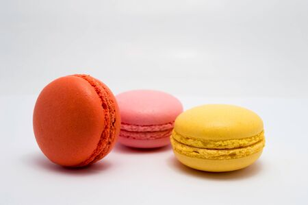 flavours: macaroons in different flavours and colors