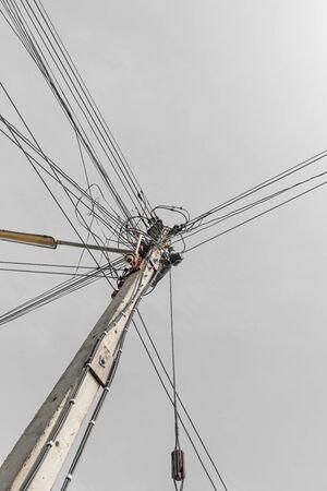 'power line': Power line Stock Photo