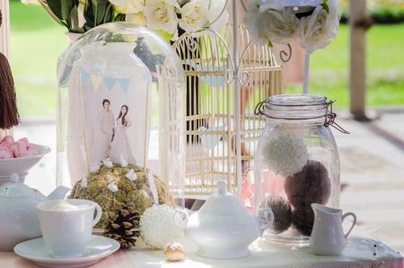householder: wedding decoration on the cake